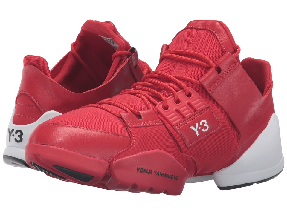 adidas Y-3 by Yohji Yamamoto - Kanja (Scarlet/Scarlet/White) Women's Lace up casual Shoes