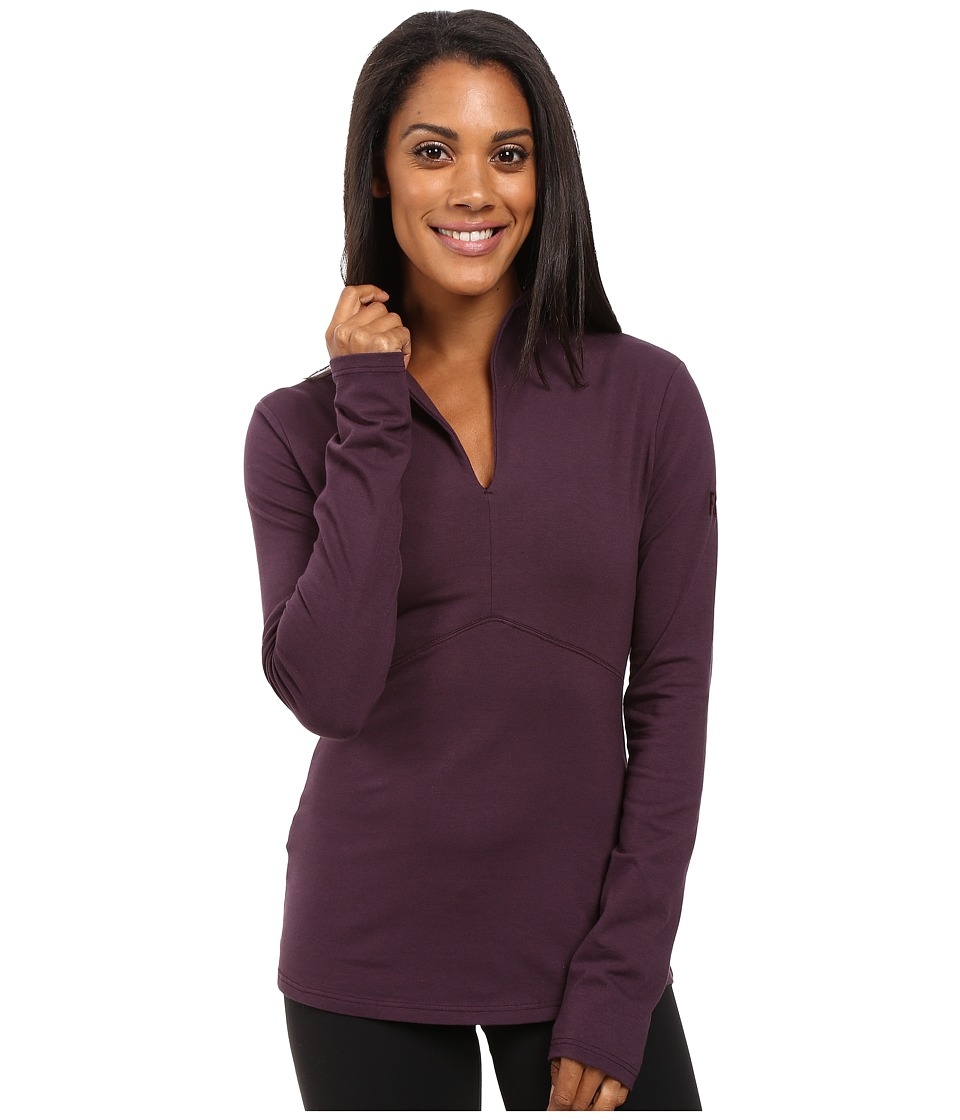FIG Clothing - Shanghai Top (Aubergine) Women's Long Sleeve Pullover
