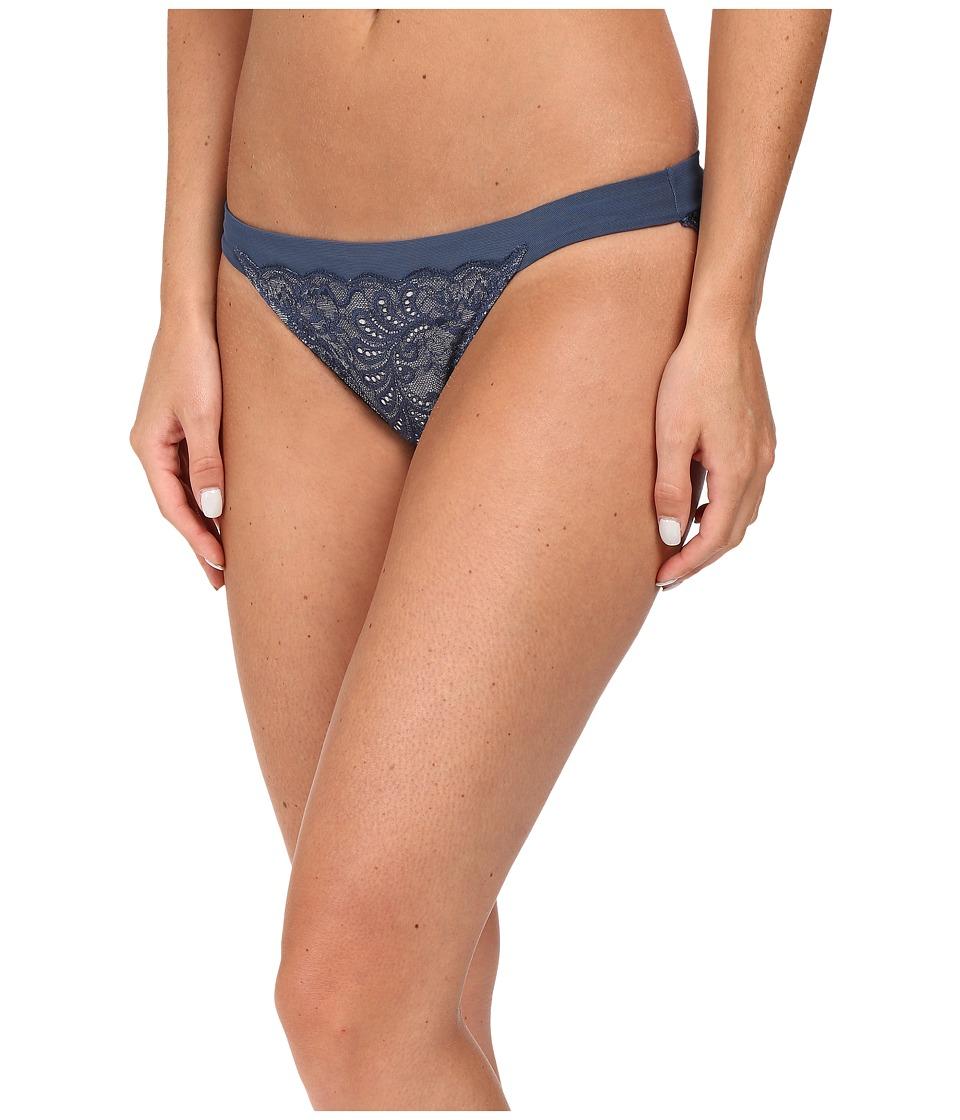 Le Mystere - Sophia Lace String Bikini 735 (Steel Blue/Silver Lurex) Women's Underwear