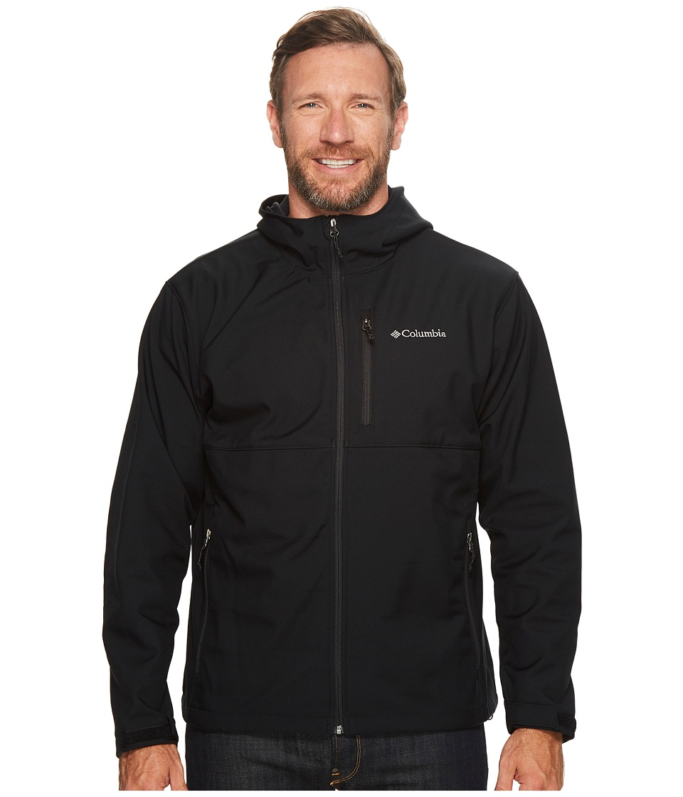 Columbia Big Tall Ascendertm Hooded Softshell Jacket (Black) Men