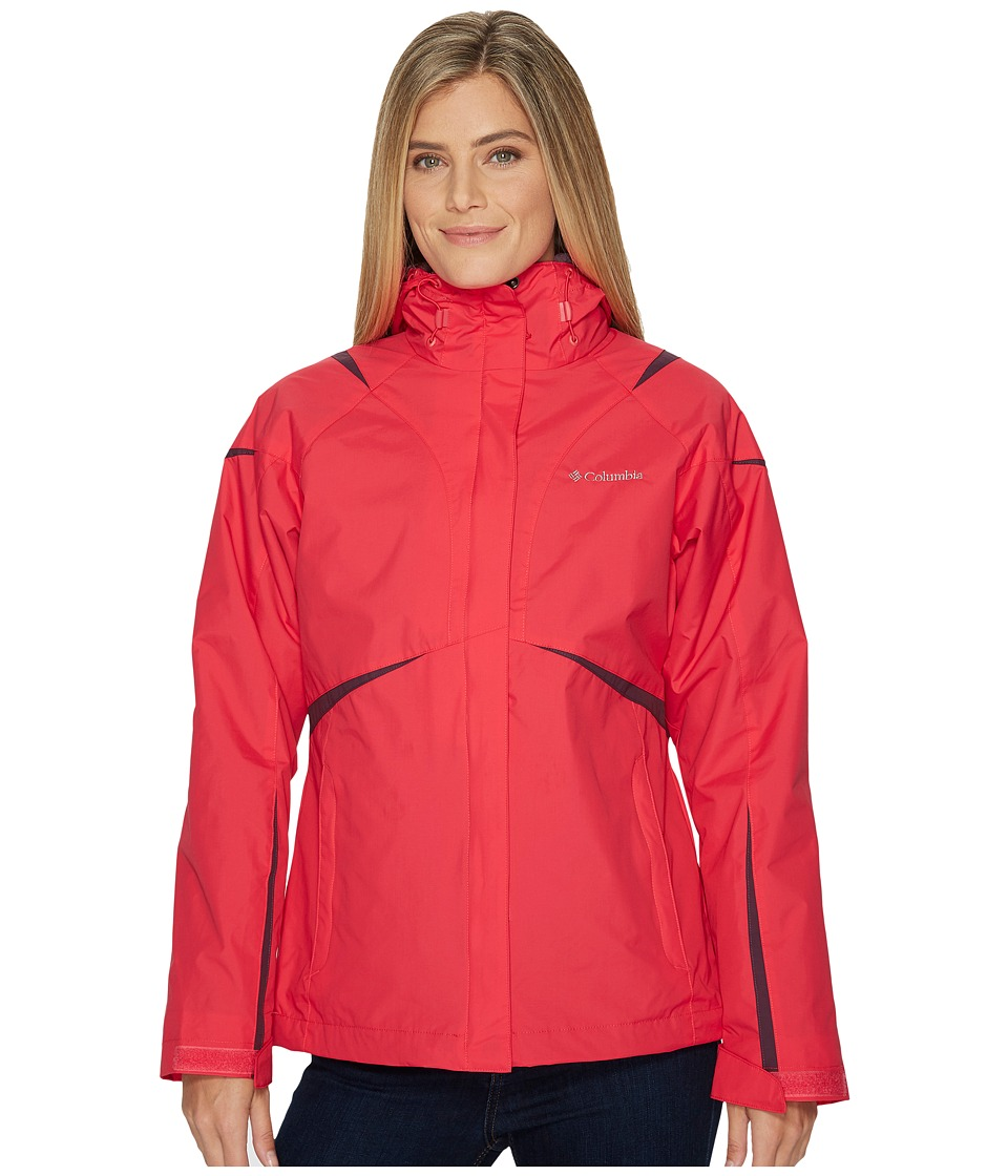 Columbia Blazing Star Interchange Jacket (Punch Pink) Women