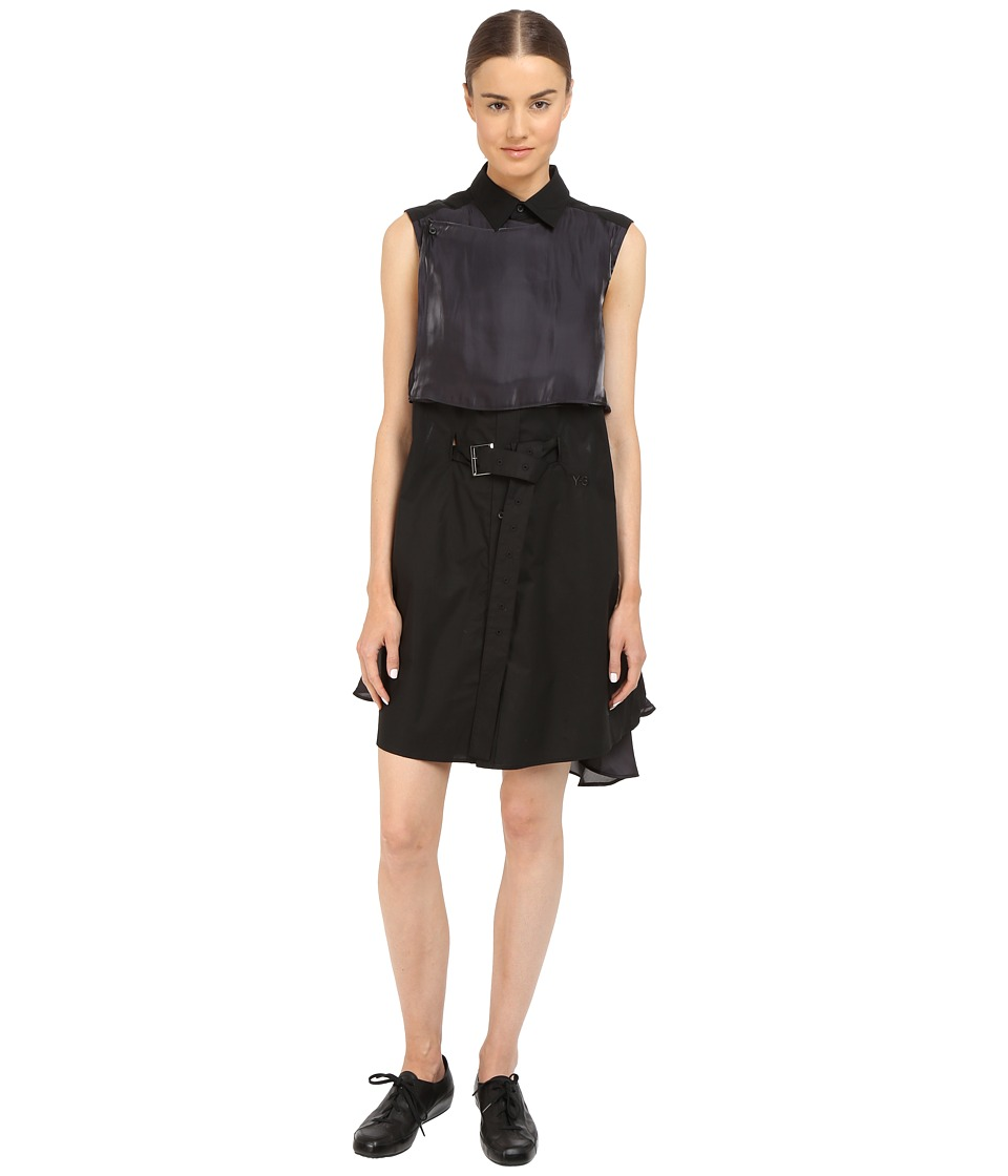 adidas Y-3 by Yohji Yamamoto - Shirtdress AP4133 (Black) Women's Dress