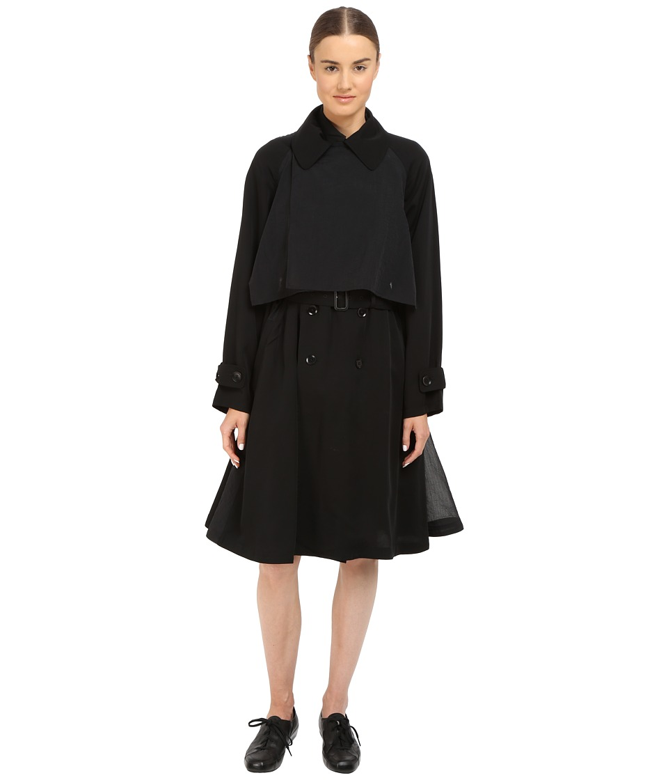 adidas Y-3 by Yohji Yamamoto - Fluid Coat (Black) Women's Coat