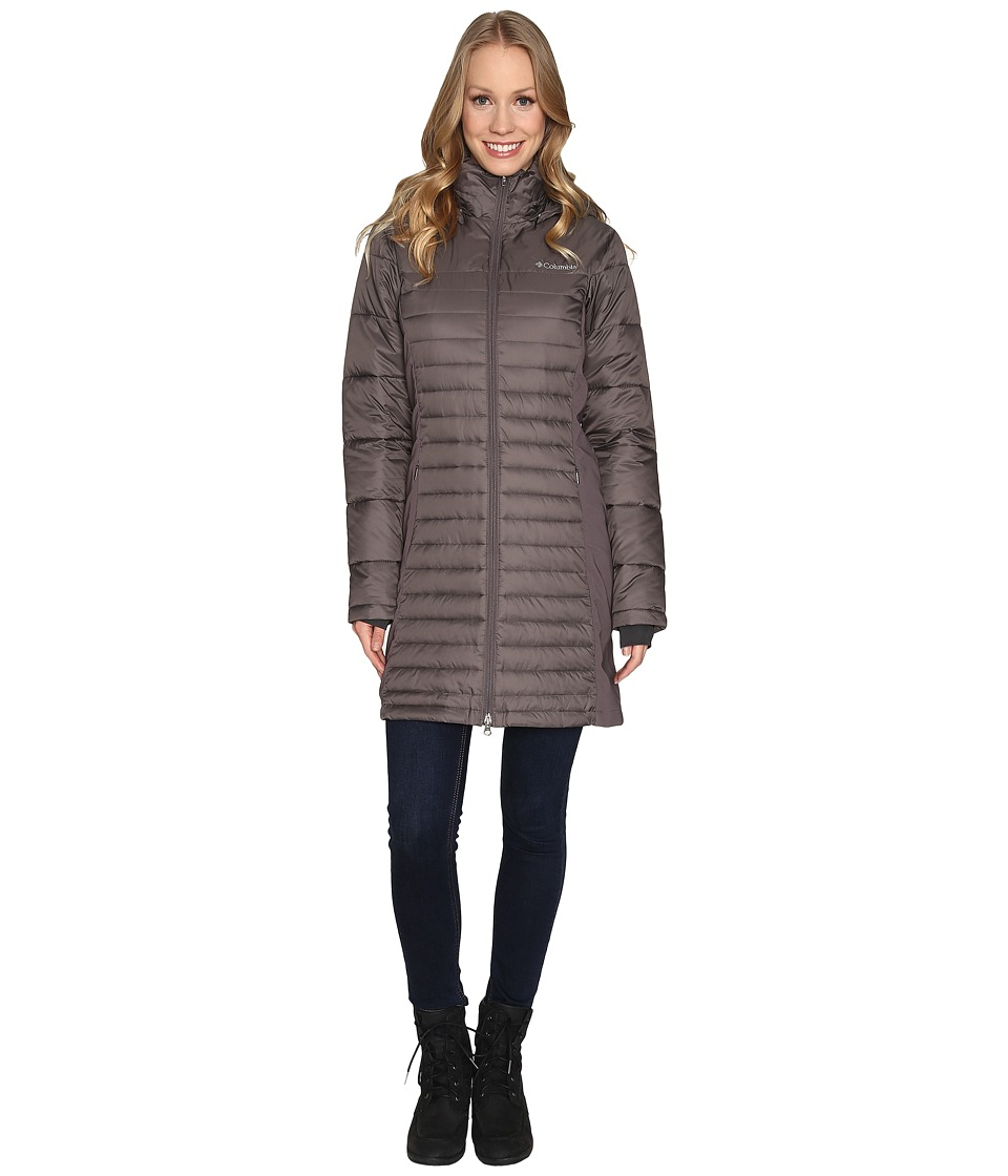 Columbia - Powder Pillow Hybrid Long Jacket (Mineshaft) Women's Coat