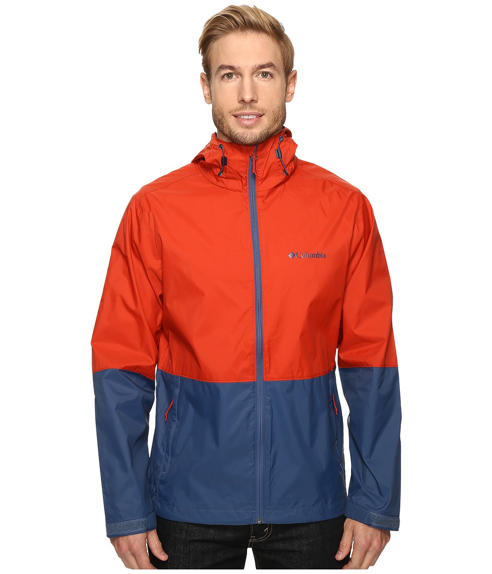 Columbia - Roan Mountain Jacket (Rust Red/Night Tide) Men's Coat