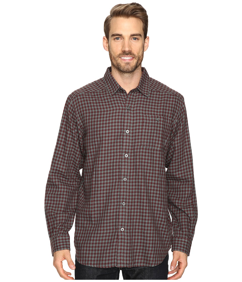 Columbia - Cornell Woods Flannel Long Sleeve Shirt (Pond Gingham) Men's Long Sleeve Button Up