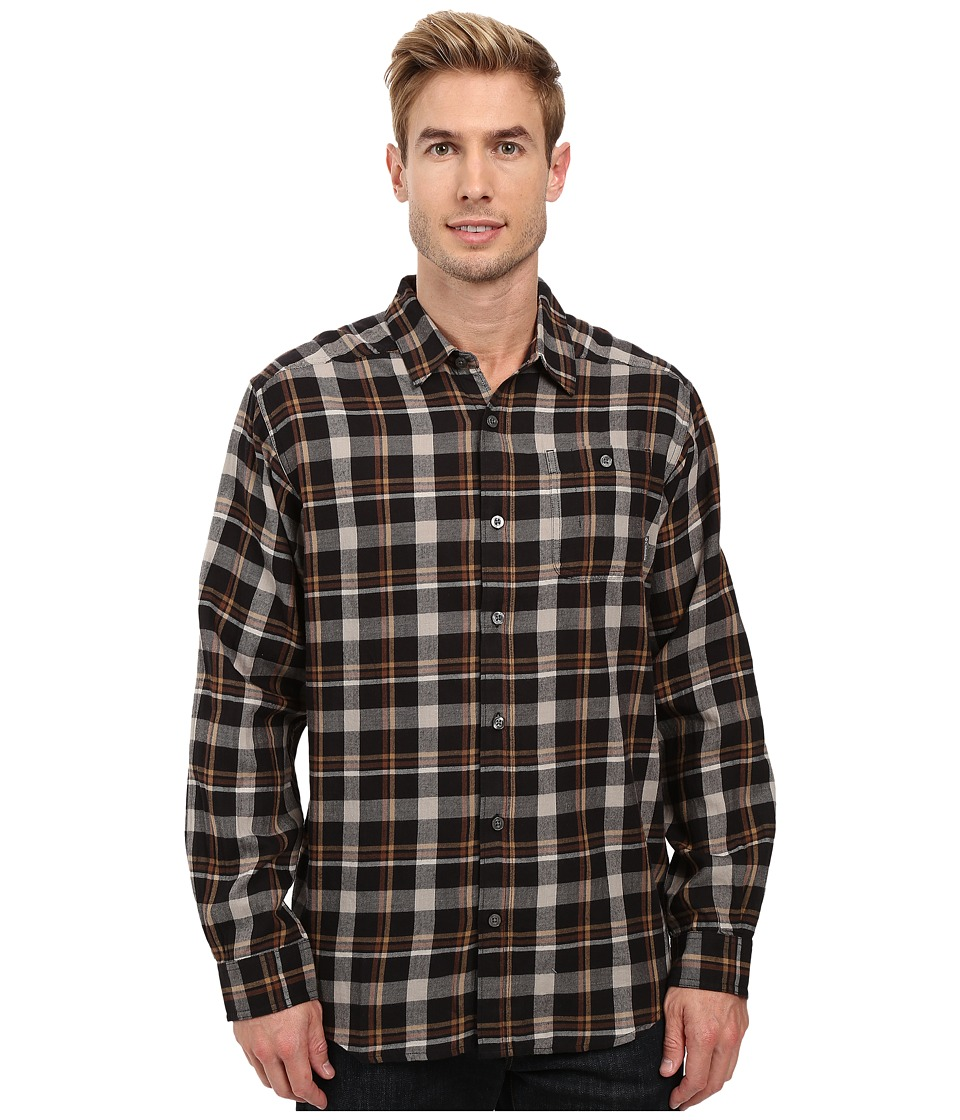 Columbia - Cornell Woods Flannel Long Sleeve Shirt (Black Multi Plaid) Men's Long Sleeve Button Up