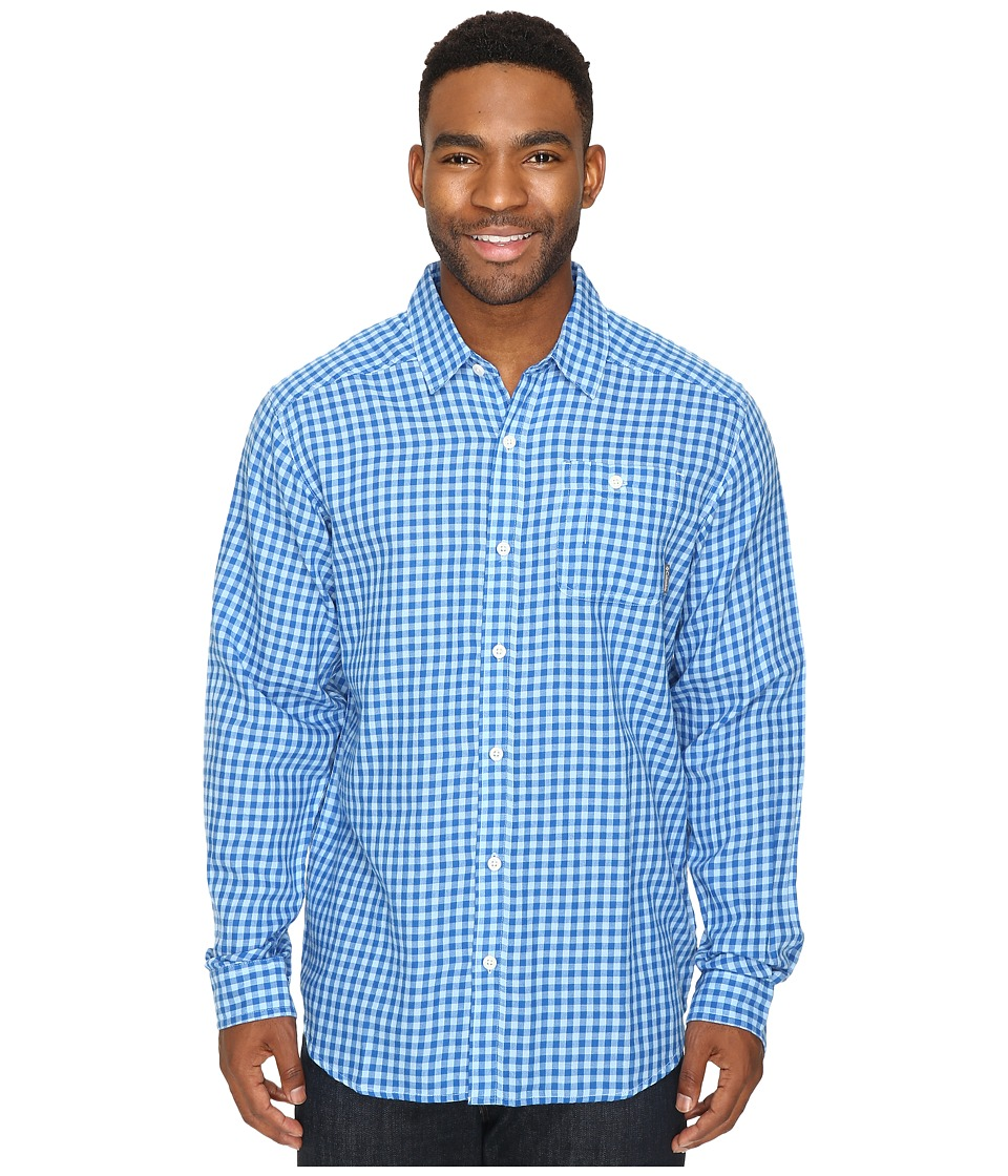Columbia - Cornell Woods Flannel Long Sleeve Shirt (Sail Gingham) Men's Long Sleeve Button Up