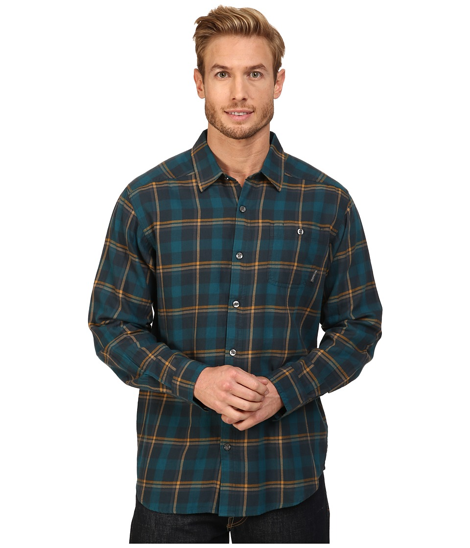 Columbia - Cornell Woods Flannel Long Sleeve Shirt (Night Shadow Multi Plaid) Men's Long Sleeve Button Up