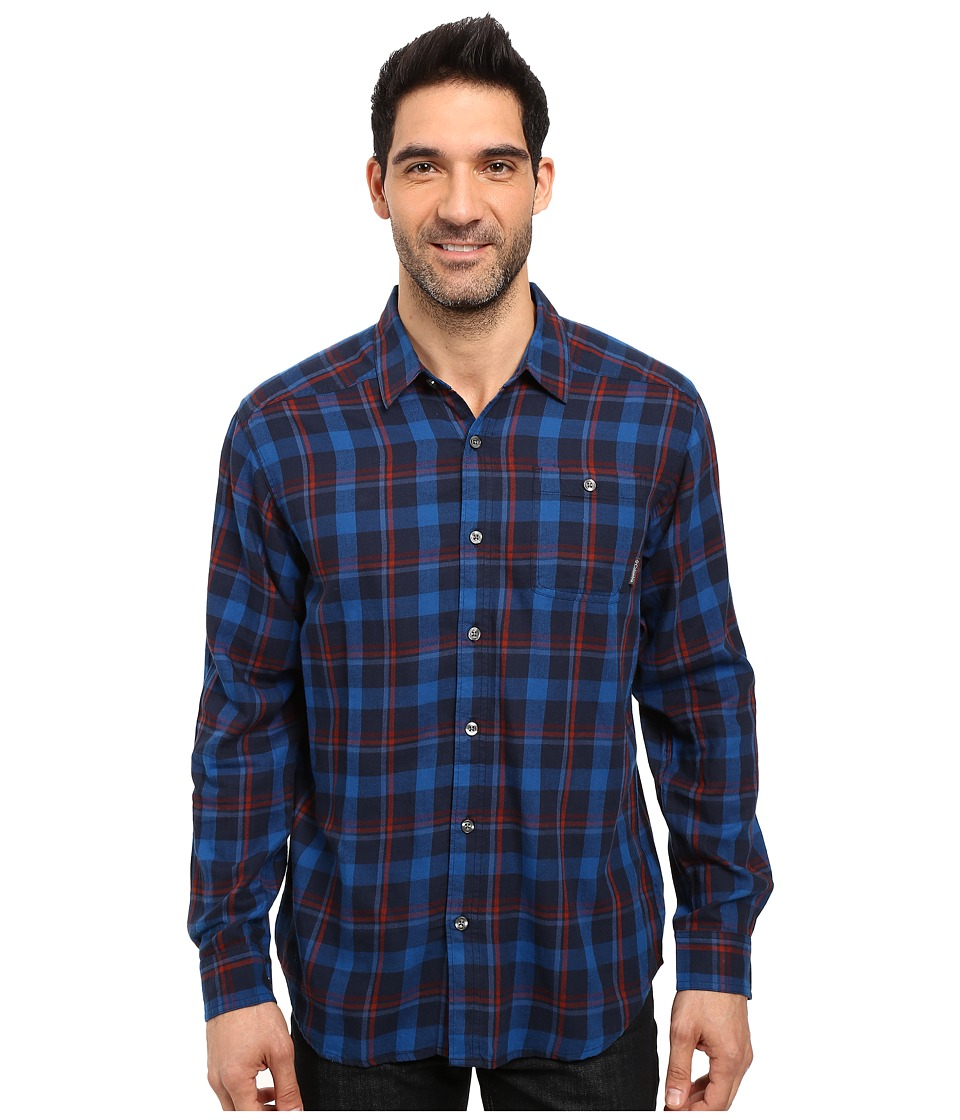 Columbia - Cornell Woods Flannel Long Sleeve Shirt (Collegiate Navy Multi Plaid) Men's Long Sleeve Button Up