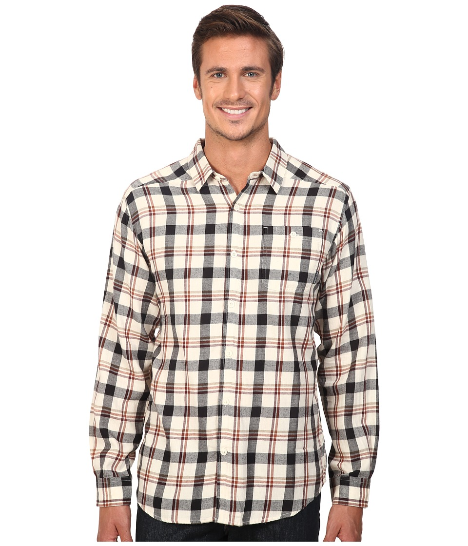 Columbia - Cornell Woods Flannel Long Sleeve Shirt (Chalk Multi Plaid) Men's Long Sleeve Button Up