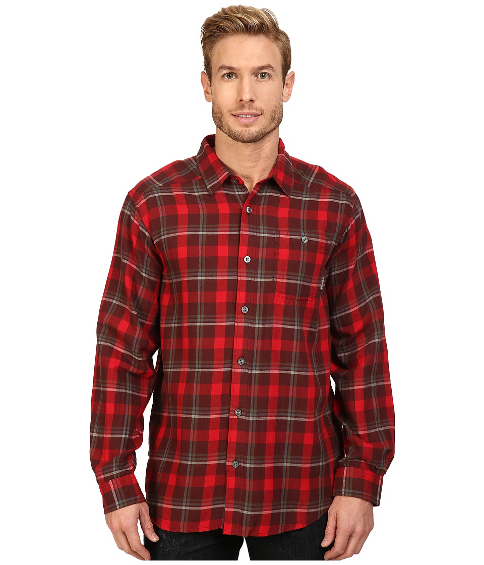 Columbia - Cornell Woods Flannel Long Sleeve Shirt (Elderberry Multi Plaid) Men's Long Sleeve Button Up
