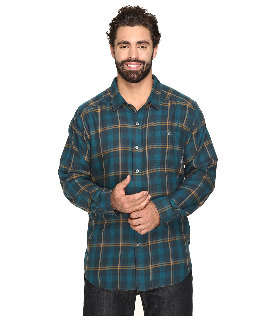 Columbia - Cornell Woods Flannel Long Sleeve (Night Shadow Multi Plaid) Men's Clothing
