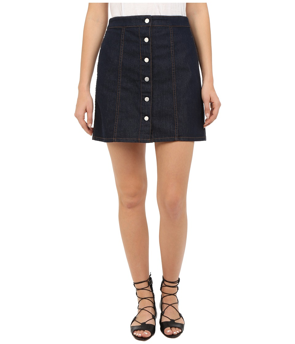 Theory - Sinall Spring Denim Skirt (Dark Indigo) Women's Skirt