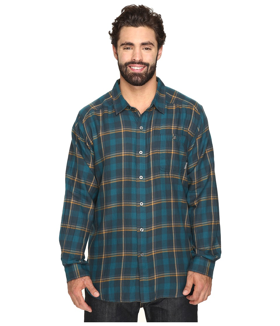 Columbia - Big Tall Cornell Woods Flannel Long Sleeve Shirt (Night Shadow Multi Plaid) Men's Clothing