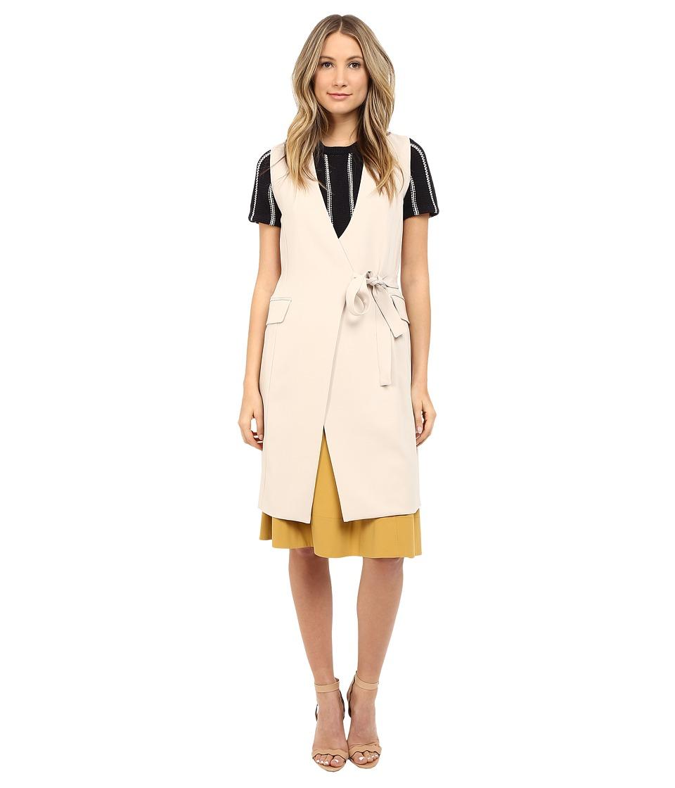 Theory - Livwilth Admiral Crepe Vest (Classic Khaki) Women's Vest