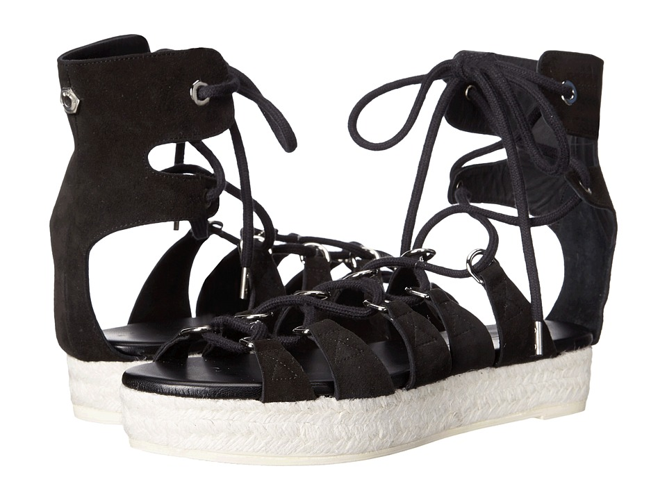 McQ - Cephas Lace-Up Sandal (Black) Women's Sandals