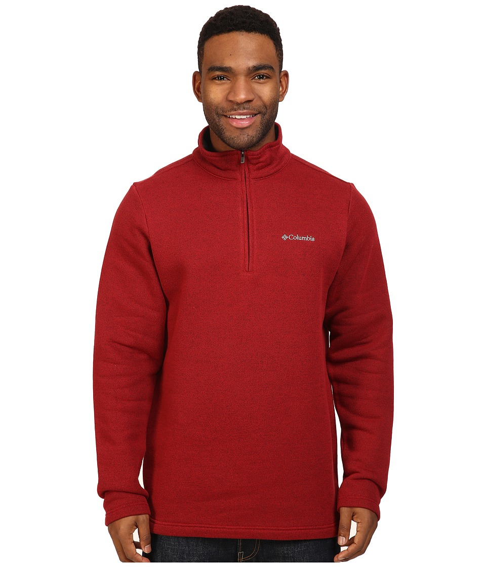 Columbia - Great Hart Mountain III Half Zip (Red Element Heather) Men's Long Sleeve Pullover