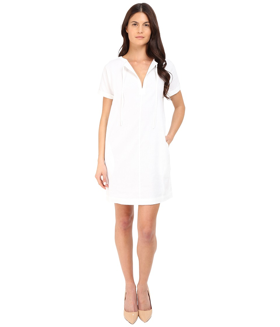 Theory Alisia Crunch Wash Dress (White) Women