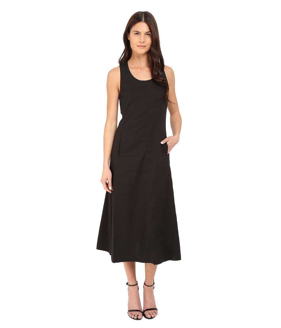 Theory Vlorine Crunch Wash Dress (Black) Women