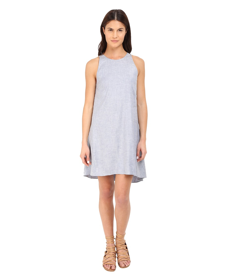 Theory Adlerdale Tierra Wash Dress (Light Denim) Women