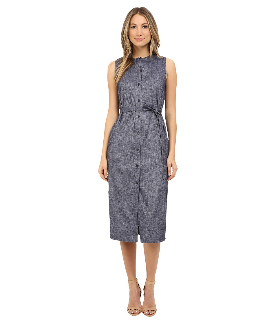 Theory Centha Tierra Wash Dress (Deep Denim) Women