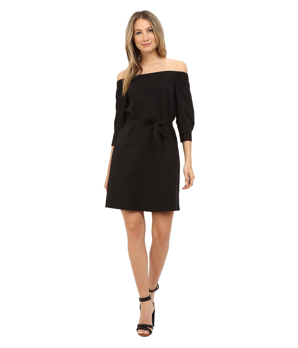 Theory Zizinna Light Poplin Dress (Black) Women