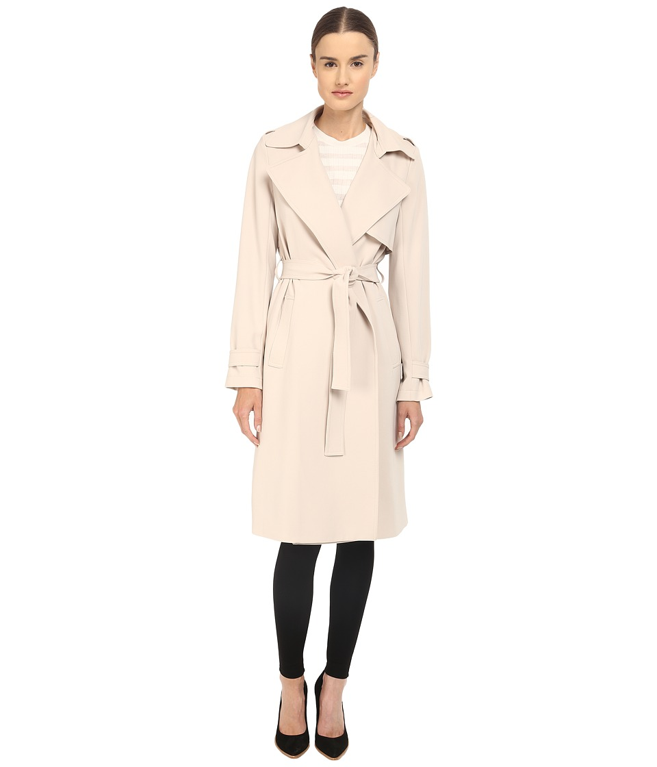 Theory - Admiral Crepe Oaklane Trench (Classic Khaki) Women's Coat
