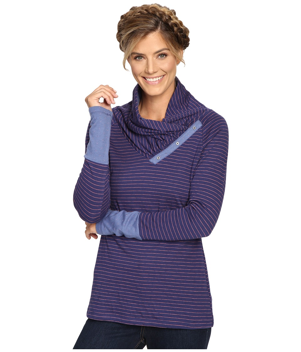 Columbia - Silver Falls Long Sleeve (Nightshade Stripe) Women's Clothing