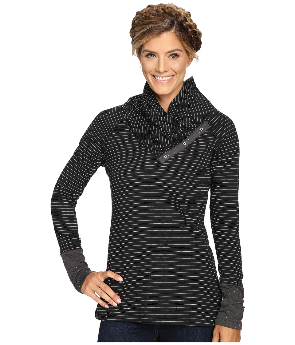 Columbia - Silver Falls Long Sleeve (Black Stripe) Women's Clothing