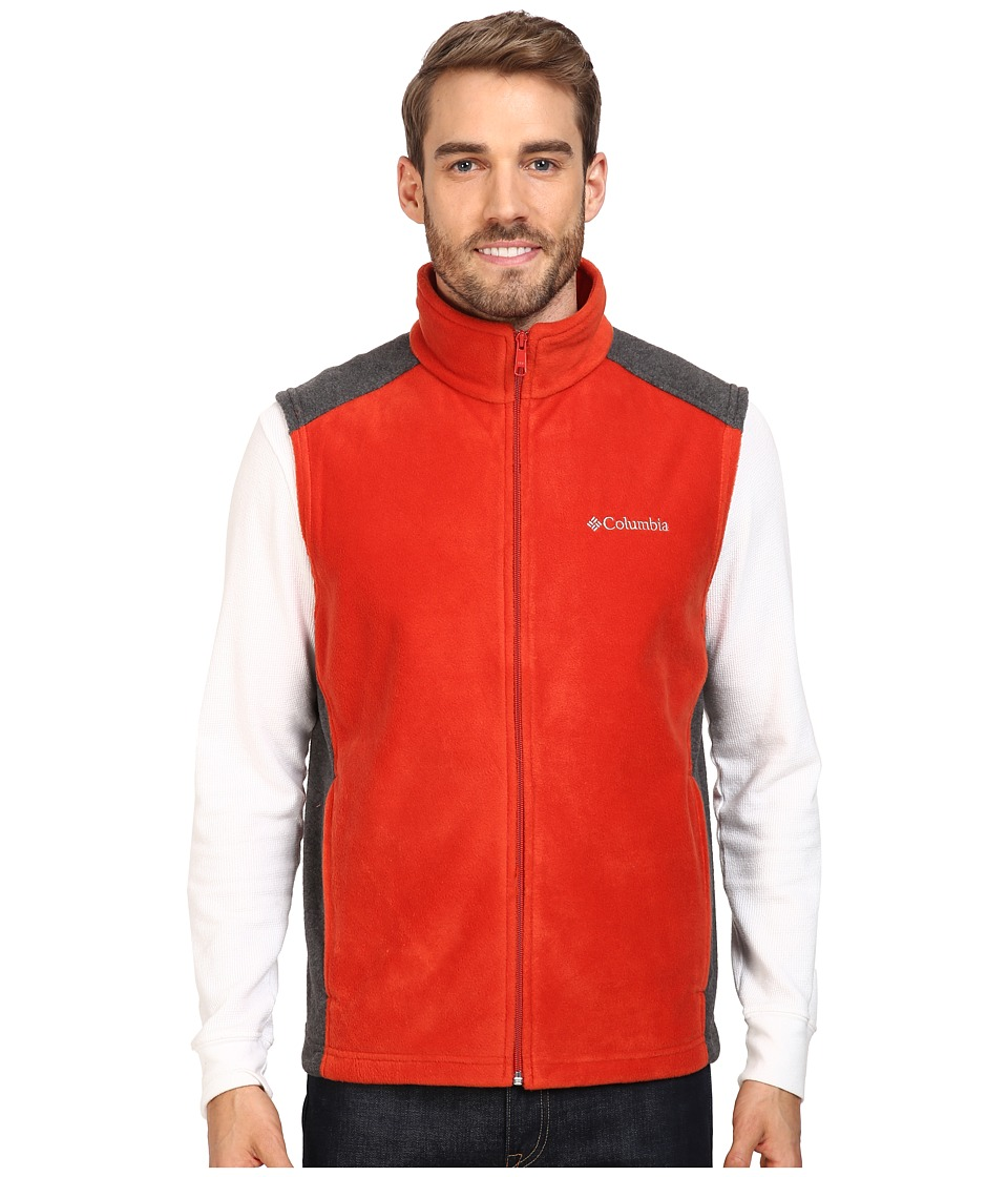 Columbia - Steens Mountain Vest (Rust Red/Charcoal Heather) Men's Vest