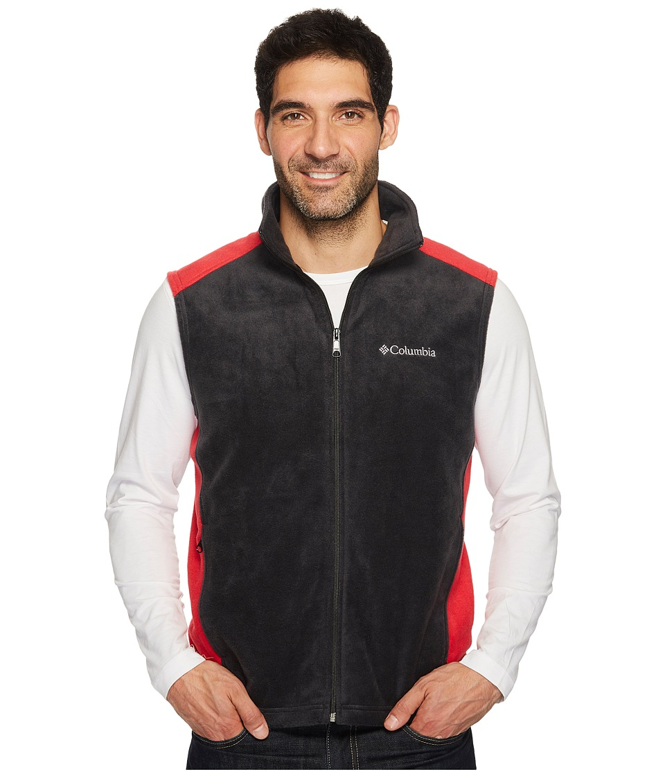 Columbia - Steens Mountain Vest (Black/Mountain Red) Men's Vest