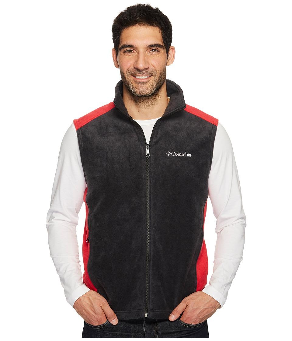 Columbia - Steens Mountain Vest (Black/Mountain Red) Men's Vest