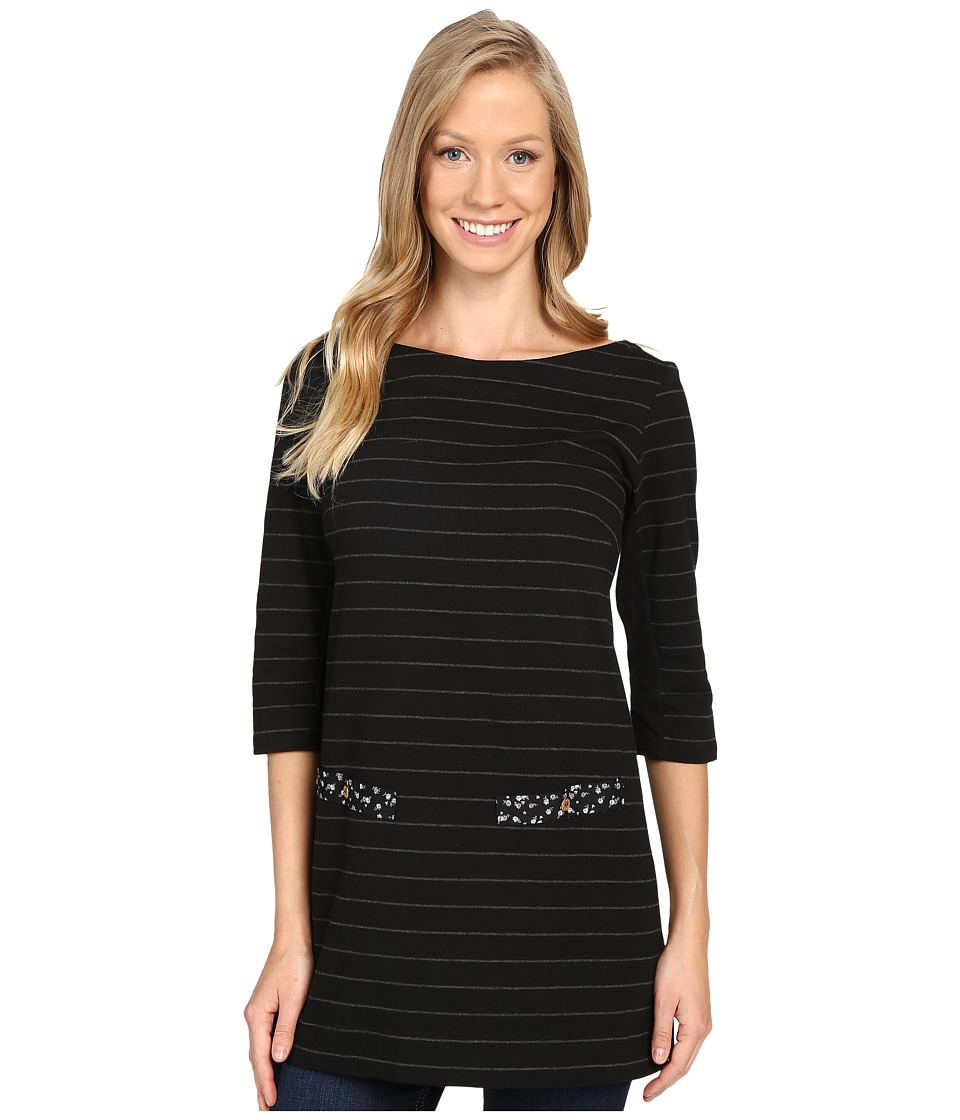 FIG Clothing - Izo Tunic (Black) Women's Blouse