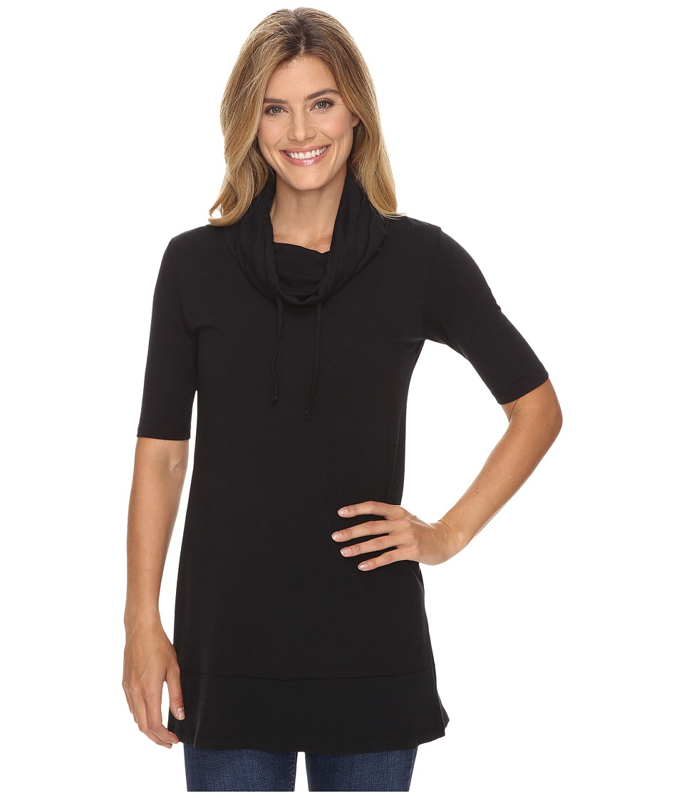 FIG Clothing - Hic Tunic (Black) Women's Blouse