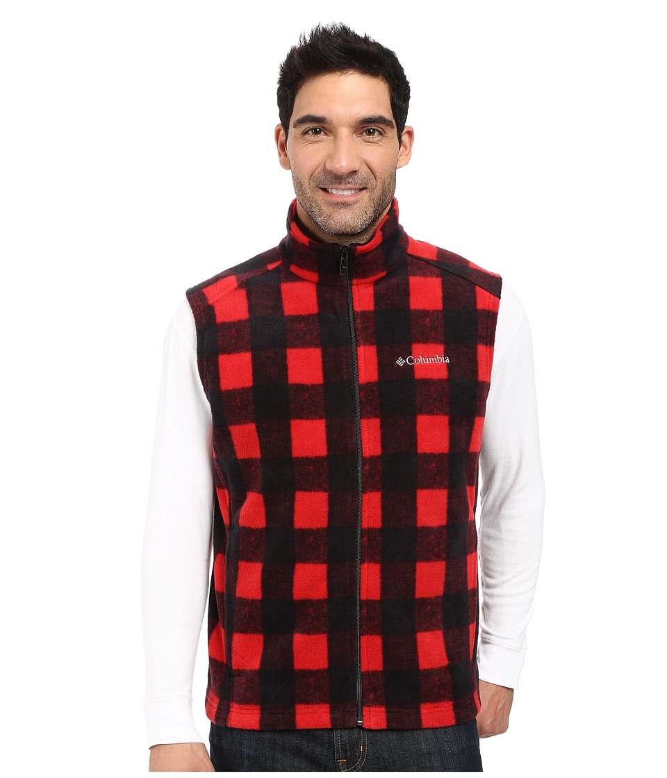 Columbia - Steens Mountain Printed Vest (Mountain Red Buffalo) Men's Vest
