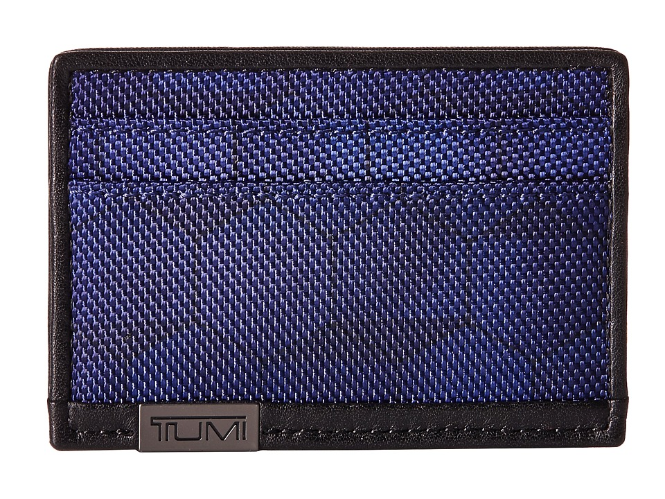 Tumi - Alpha - Slim Card Case (Blue Geo Print) Credit card Wallet