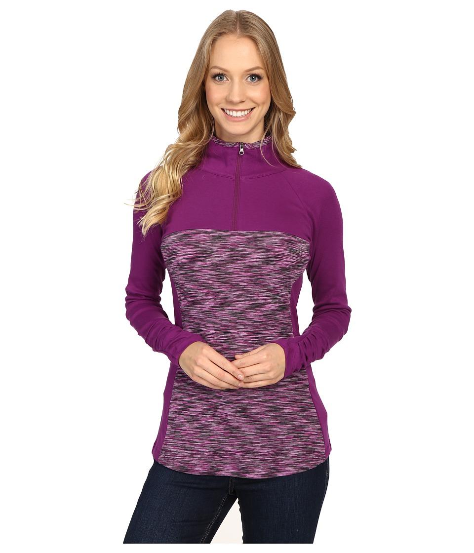 Columbia - Outerspaced II 1/2 Zip (Plum) Women's Clothing