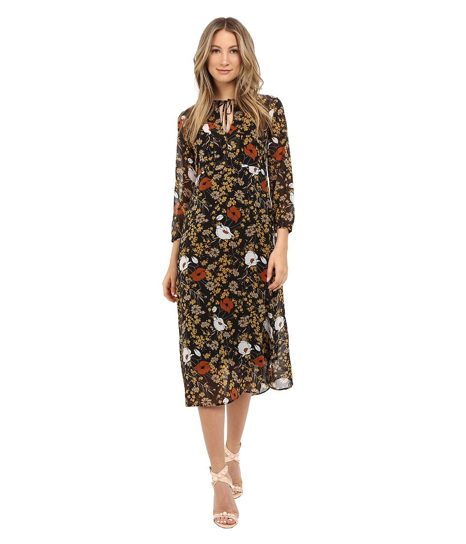 Theory - Jiltrey Dress (Marigold Print) Women's Dress