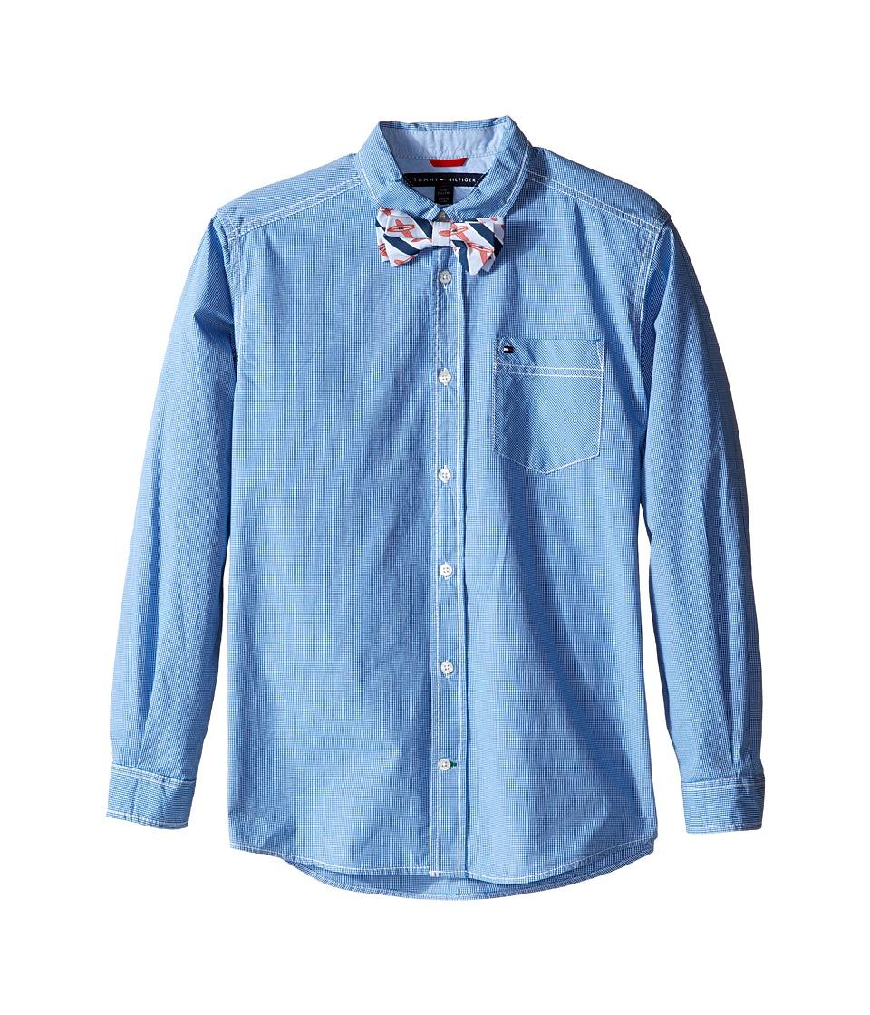 Tommy Hilfiger Kids - Johnny Woven Shirt (Big Kids) (Royal) Boy's Clothing