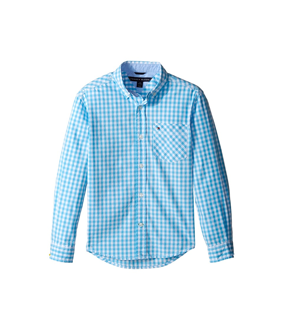 Tommy Hilfiger Kids - Fashion Baxter Woven Shirt (Big Kids) (Zen Blue) Boy's Clothing