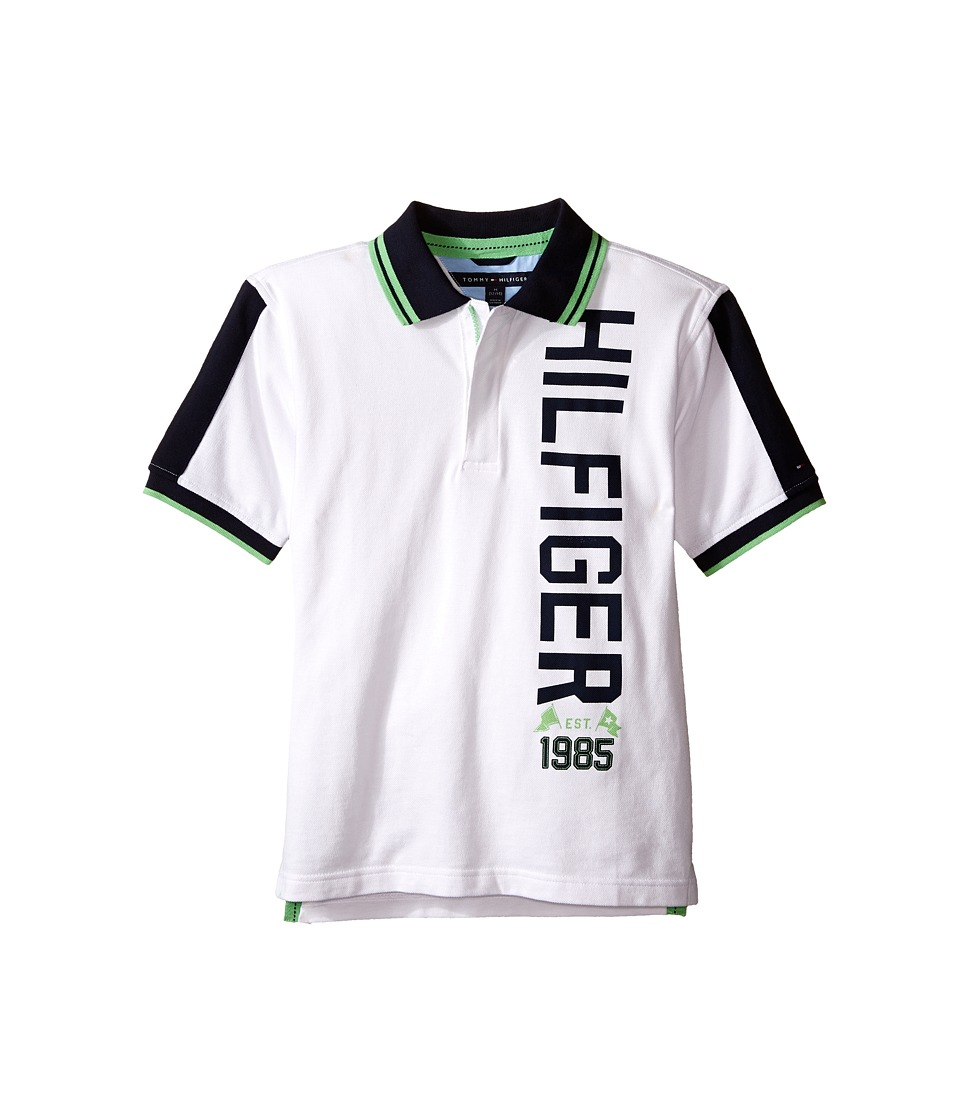 Tommy Hilfiger Kids - James Pique Polo (Big Kids) (White) Boy's Clothing