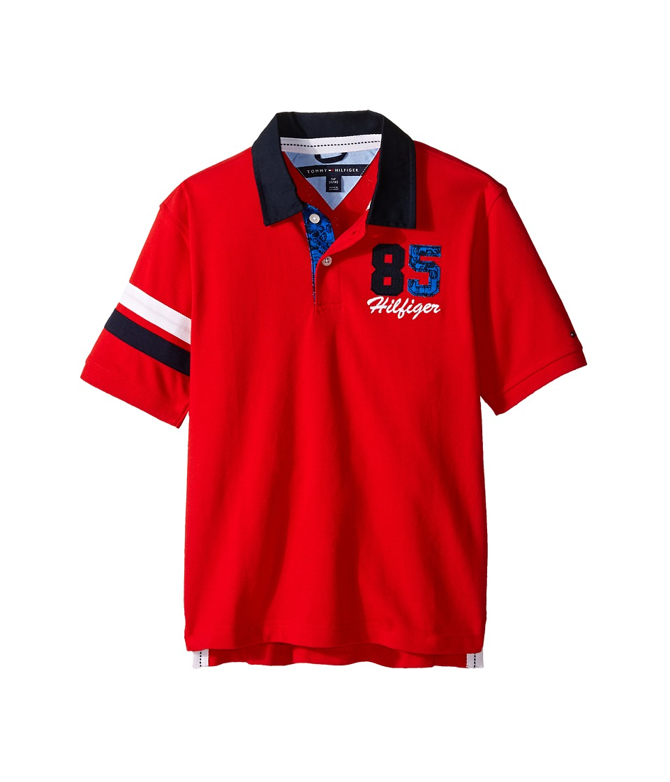 Tommy Hilfiger Kids - Harvey Pique Polo (Big Kids) (Flame Scarlet) Boy's Clothing