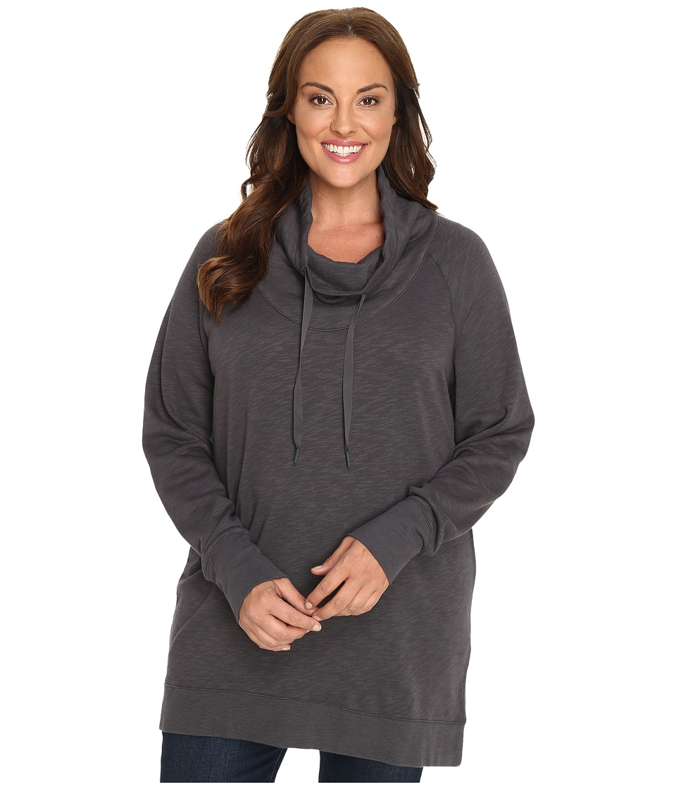 Columbia - Plus Size Down Time Pullover (Shark Heather) Women's Clothing