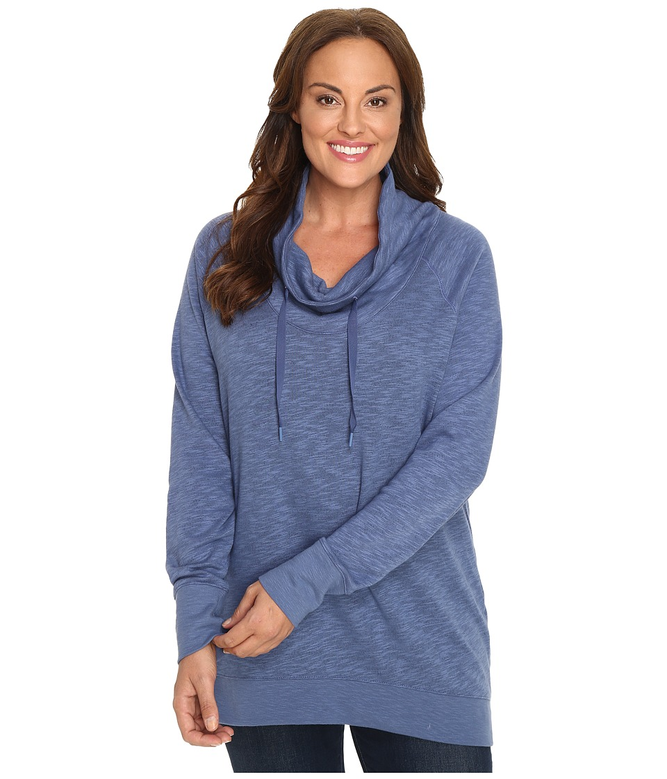 Columbia - Plus Size Down Time Pullover (Bluebell Heather) Women's Clothing