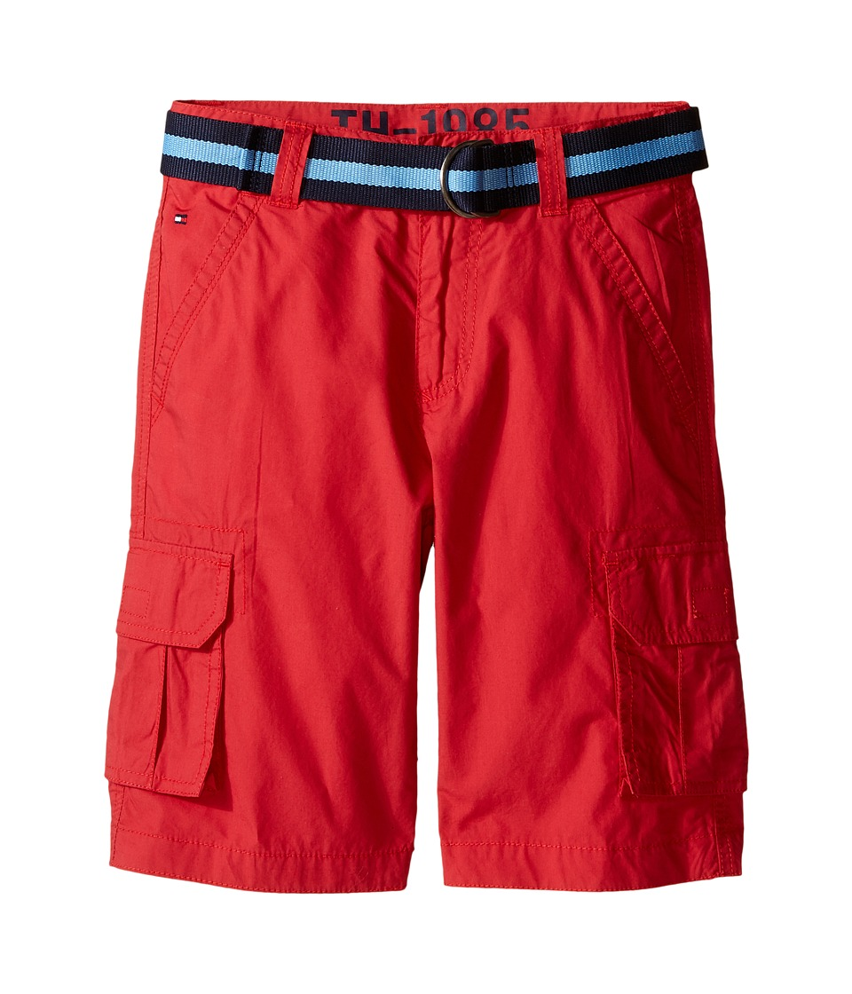 Tommy Hilfiger Kids - Back Country Cargo Shorts (Big Kids) (Red Geranium) Boy's Shorts