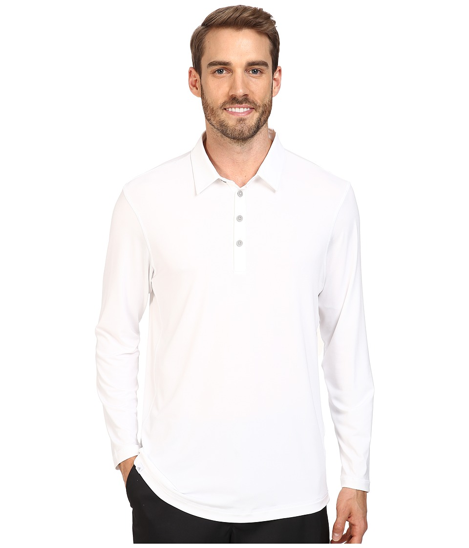 adidas Golf CLIMACOOL(r) UPF Long Sleeve Polo (White) Men