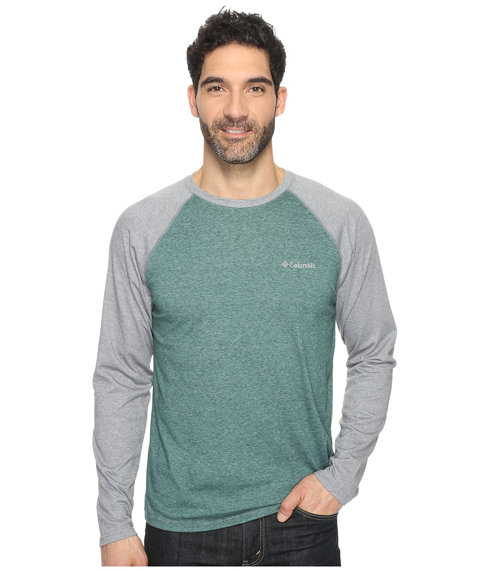 Columbia - Thistletown Park Raglan Tee (Wildwood Green Heather/Grey Heather) Men's T Shirt
