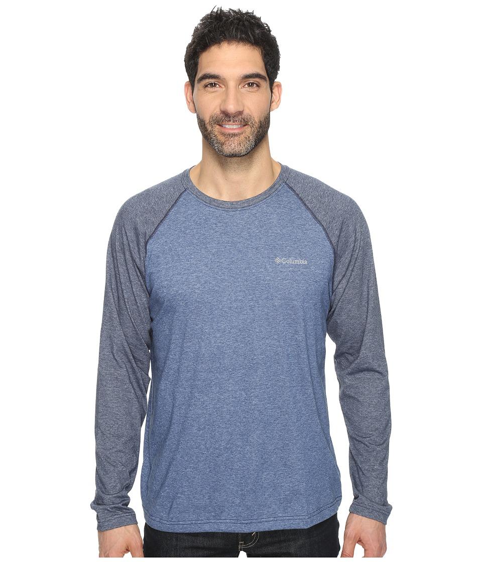 Columbia - Thistletown Park Raglan Tee (Night Tide Heather/Collegiate Navy) Men's T Shirt