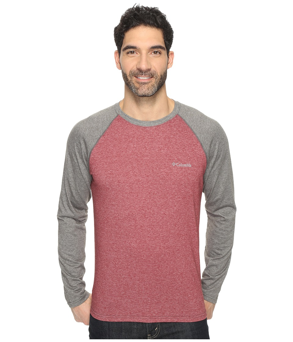 Columbia - Thistletown Park Raglan Tee (Red Element Heather/Grill Heather) Men's T Shirt